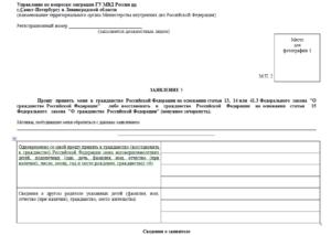Заявление на гражданство ребенку приложение 3 образец заполнения