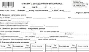 Статус налогоплательщика в справке 2-НДФЛ