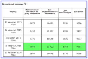 Какой прожиточный минимум в рязанской области на 2021 год