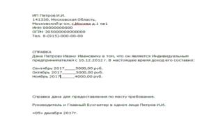 Справка о доходах для ип для получения детского пособия