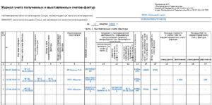 Журнал учета полученных счетов фактур
