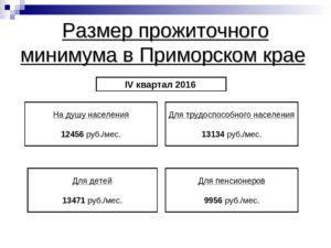 Размер прожиточного минимума в приморском крае в 2021 году