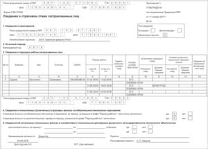 ОДВ-1: отчет в ПФР