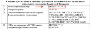 Регистрационный номер страхователя в ФСС