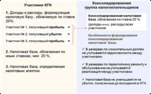 Понятие консолидированной группы налогоплательщиков (КГН)