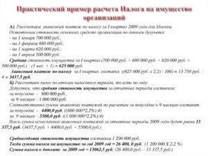 Расчет налога на имущество физических лиц, расчет налога на имущество организаций