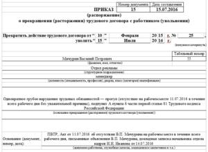 Дата увольнения и дата приказа на увольнение