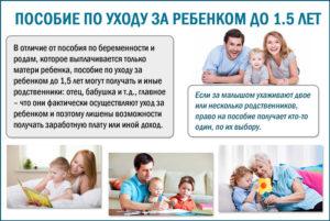 Пособие по уходу за ребенком кто выплачивает