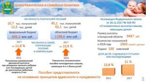 Выплаты на второго ребенка в калужской области в 2019