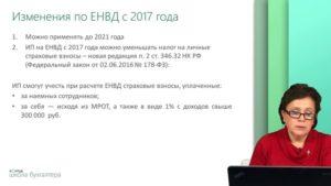 Изменения в ЕНВД в 2021 и 2021 году