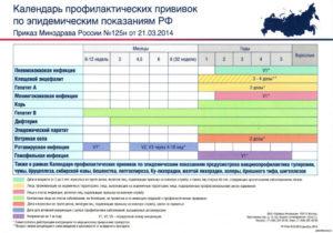 Национальный календарь профилактических прививок в РФ – нюансы вакцинации