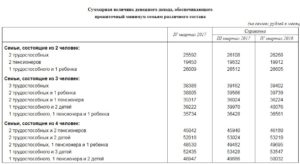 Размер прожиточного минимума в приморском крае в 2019 году