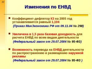 Изменения в ЕНВД в 2016 и 2017 году