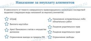 Что грозит за неуплату алиментов в 2019 году в россии