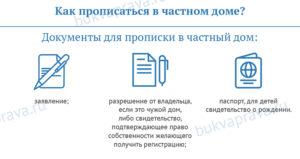 Документы для прописки в частном доме