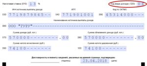 Коды вида дохода в 3-НДФЛ