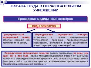 Обязательные предварительные и периодические медицинские осмотры